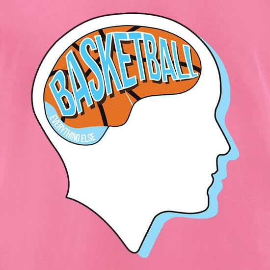 Basketball On The Brain t shirt
