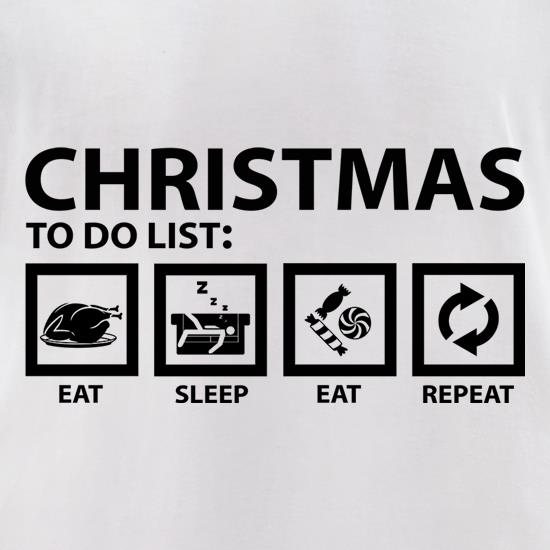 Christmas To Do List t shirt