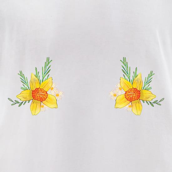 Double Daffodil Chest t shirt