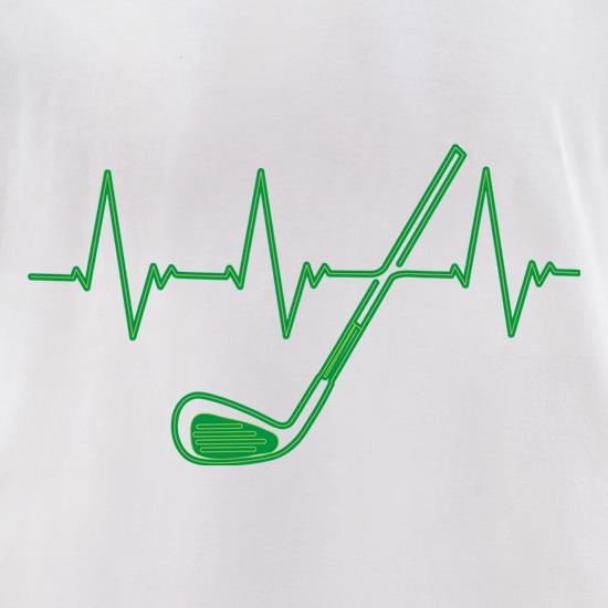 Golf Heartbeat t shirt
