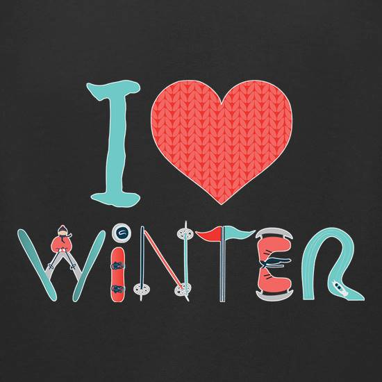 I Love Winter t shirt