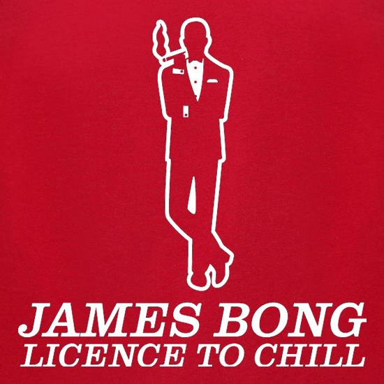 James Bong Licence To Chill t shirt