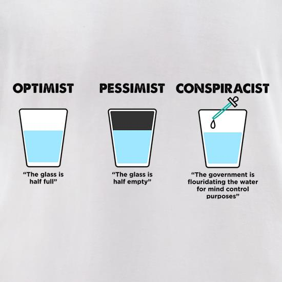 Optimist, Pessimist Or Conspiracist t shirt