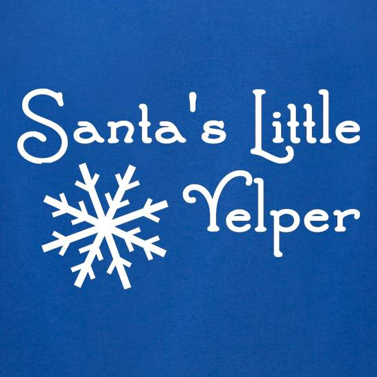 Santa's Little Yelper! t shirt