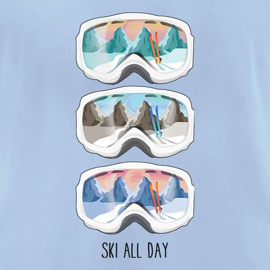 Ski All Day t shirt