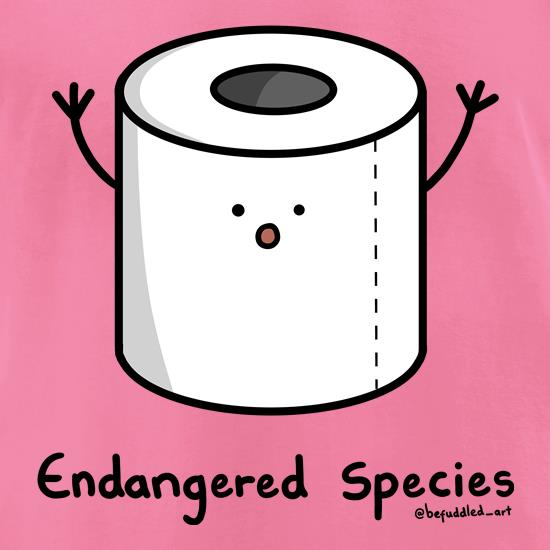 Toilet Roll - Endangered Species t shirt