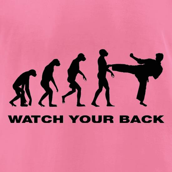 Watch Your Back Evolution t shirt