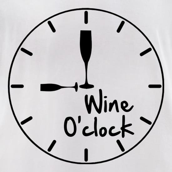 Wine O'Clock t shirt