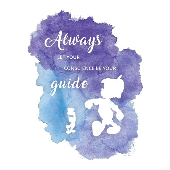 Always Let Your Conscience Be Your Guide t shirt