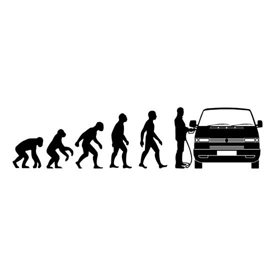 Evolution of Man T4 Campervan t shirt