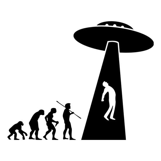 Evolution UFO t shirt
