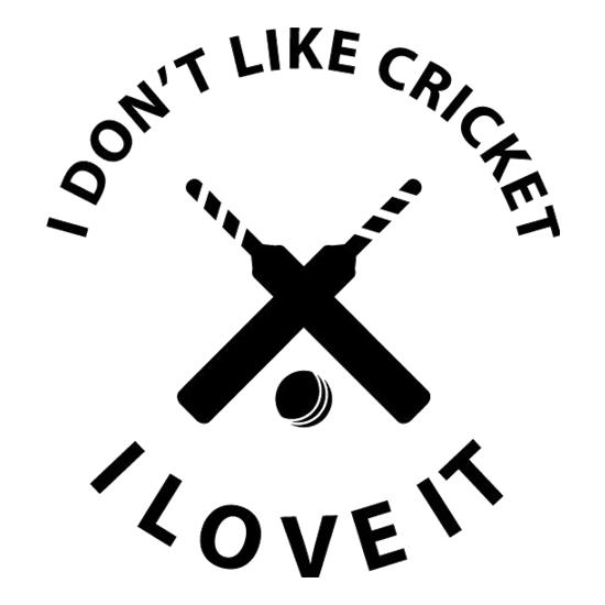 I Don't Like Cricket I Love It t shirt