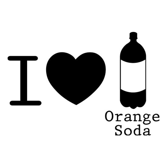 I Love Orange Soda t shirt