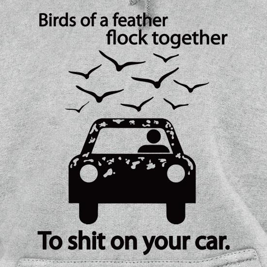 Birds Of A Feather Flock Together To S**t On Your Car t shirt