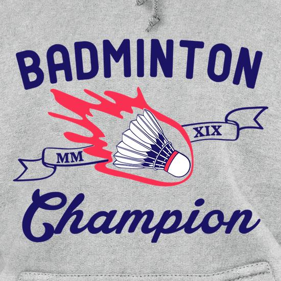 Badminton Champion t shirt