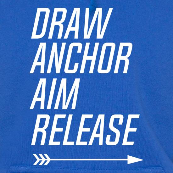 Draw, Anchor, Aim, Release t shirt
