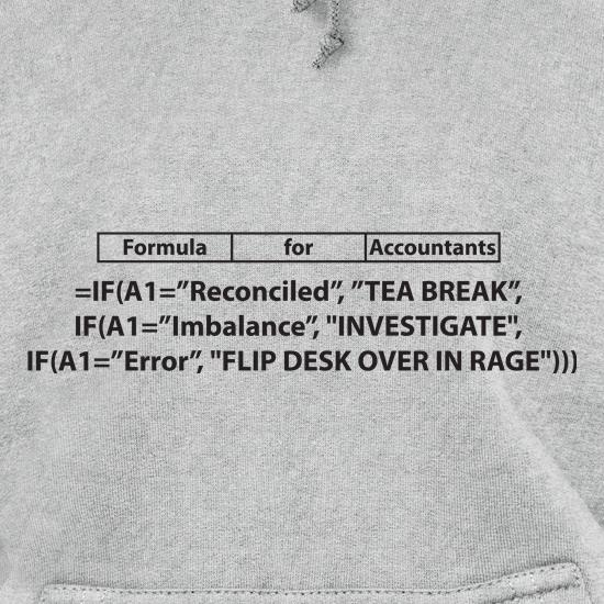 Formula for Accountants t shirt