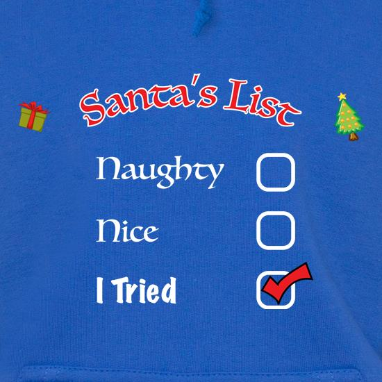 Santas Naughty List t shirt
