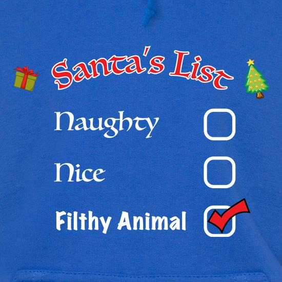 Santas Naughty List Filthy t shirt