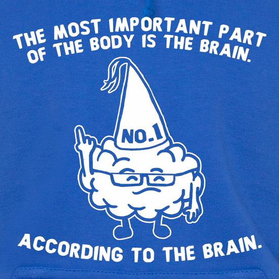 The Most Important Part Of The Body Is The Brain. According To The Brain. t shirt