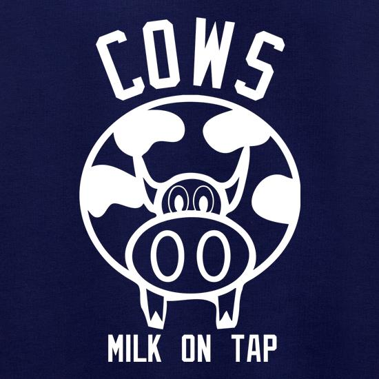 Cows Milk on Tap t shirt