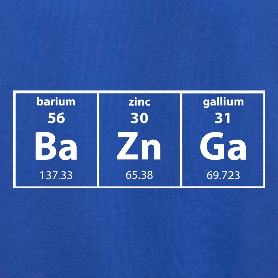 Baznga Periodic Table t shirt