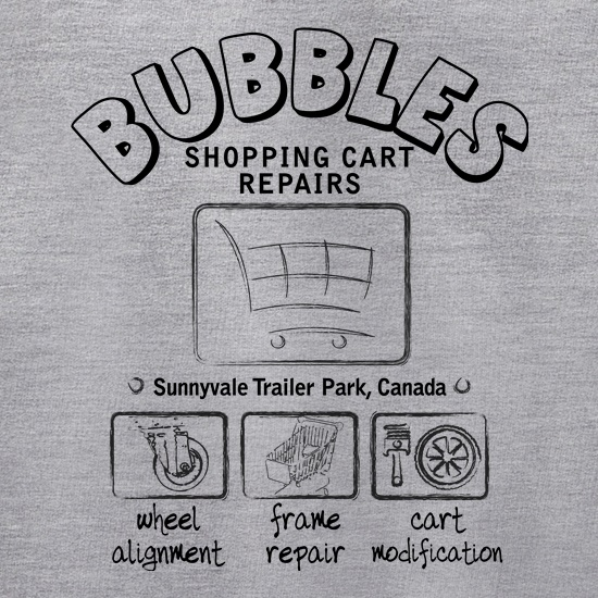 Bubbles Cart Repairs t shirt
