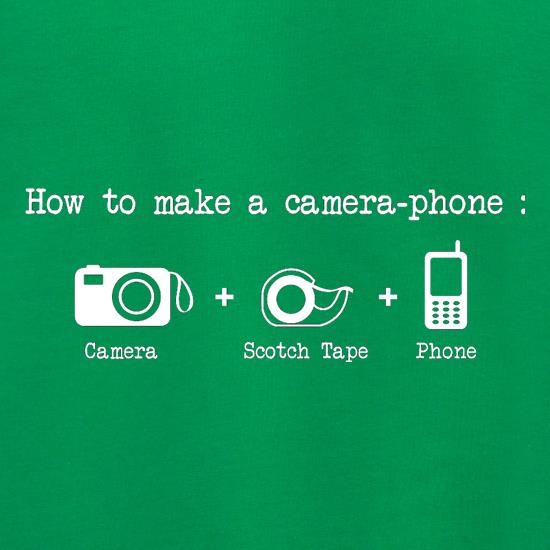 How To Make A Camera Phone t shirt