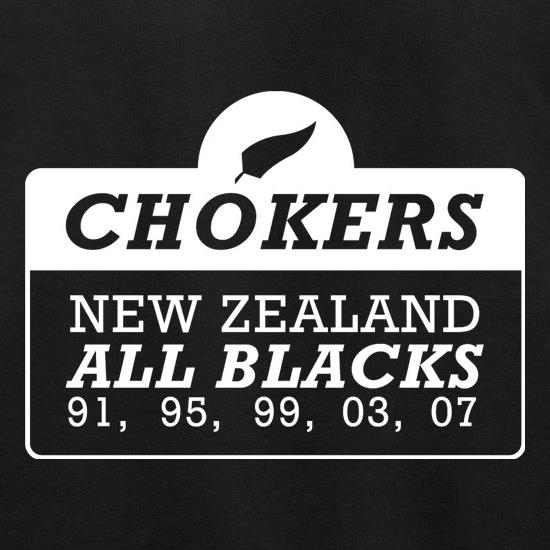 Chokers New Zealand All Blacks t shirt