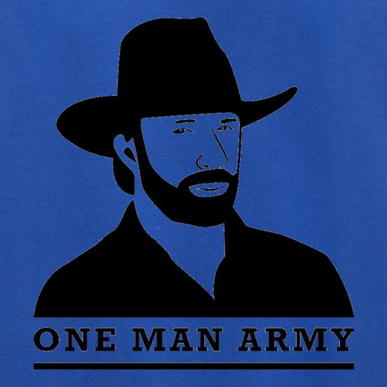 Chuck Norris One Man Army t shirt
