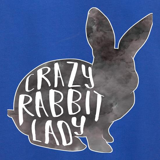 Crazy Rabbit Lady t shirt