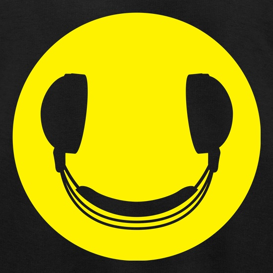 DJ Headphones Smiley Face t shirt