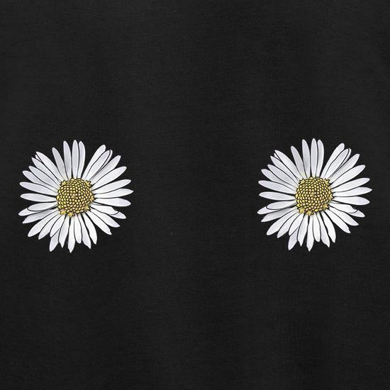 Double Daisy Chest t shirt