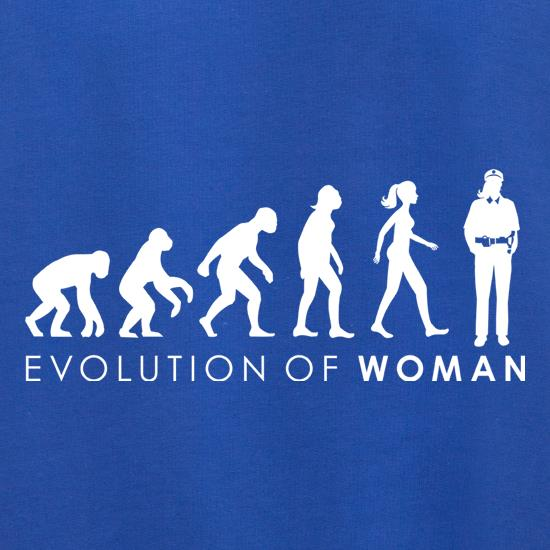 Evolution Of Police Woman t shirt