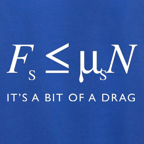 Friction It's A Bit Of A Drag t shirt