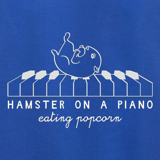 Hamster On A Piano Eating Popcorn t shirt