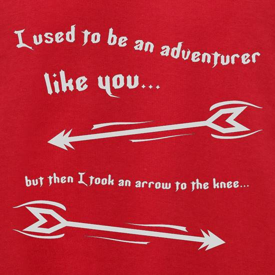 I Used To Be An Adventurer Like You...But Then I Took An Arrow To The Knee t shirt