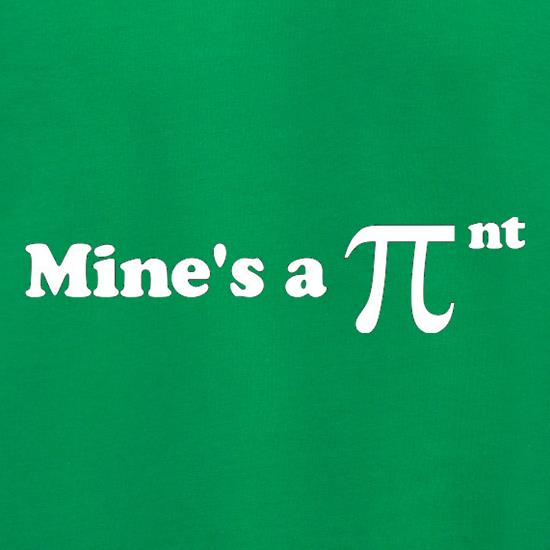 Mine's A Pint Geek t shirt