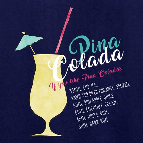Pina Colada Recipe t shirt