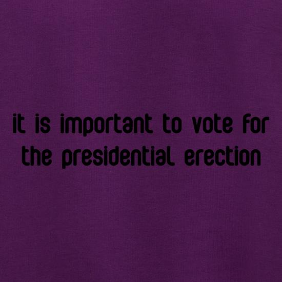 Presidential Erection t shirt