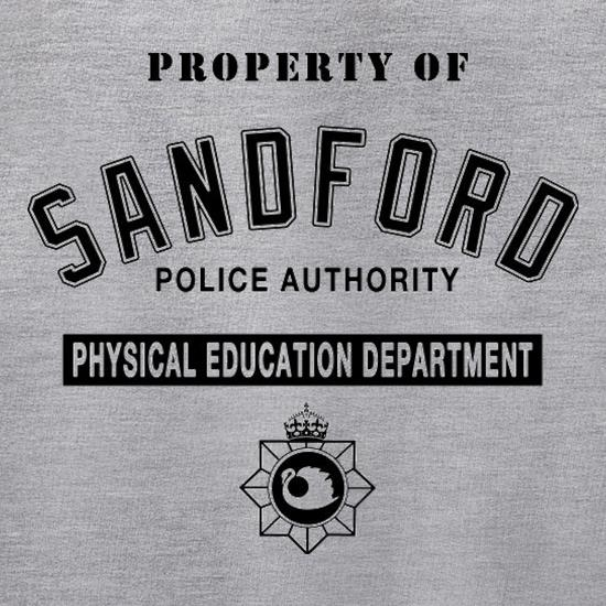 Property Of Sandford Police Authority t shirt