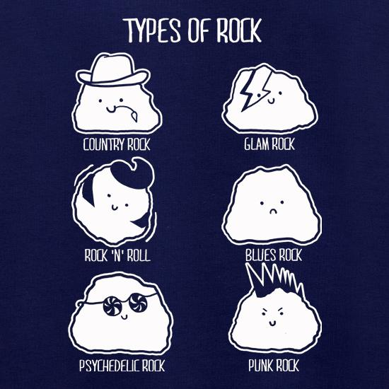 Types Of Rock t shirt