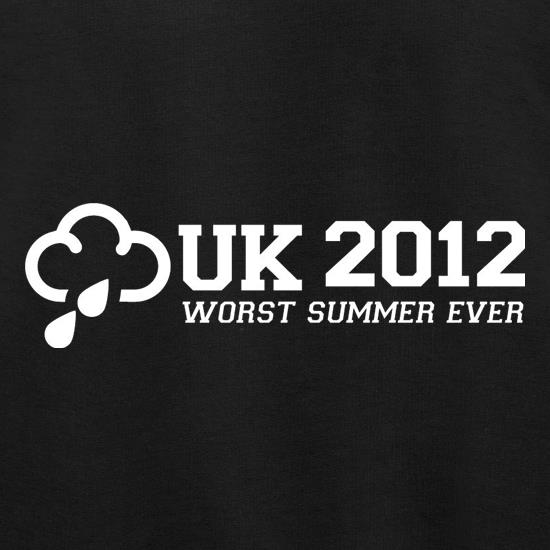 UK 2012 Worst Summer Ever t shirt
