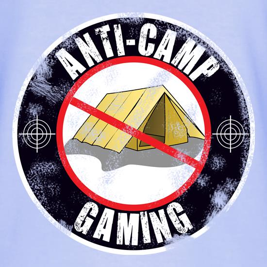 Anti Camping Gaming t shirt