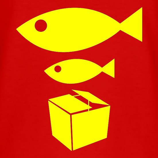 Big Fish Little Fish Cardboard Box t shirt