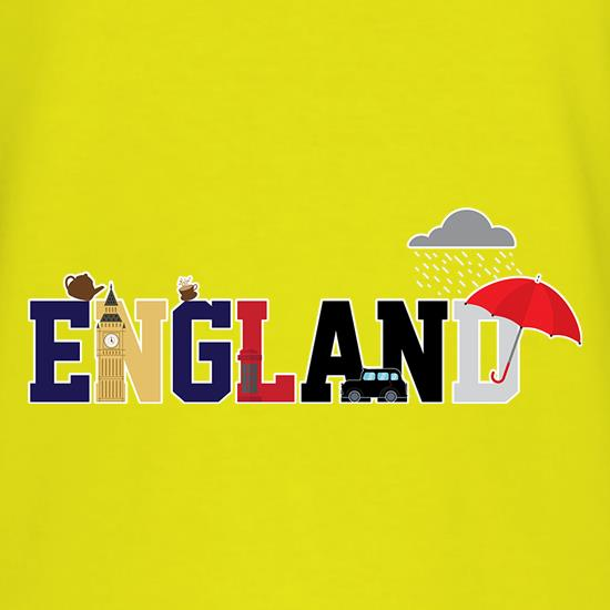 England Word Icons t shirt