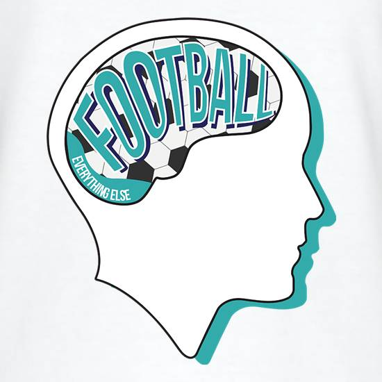 Football On The Brain t shirt