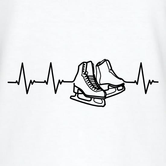 Ice Skating Heartbeat t shirt