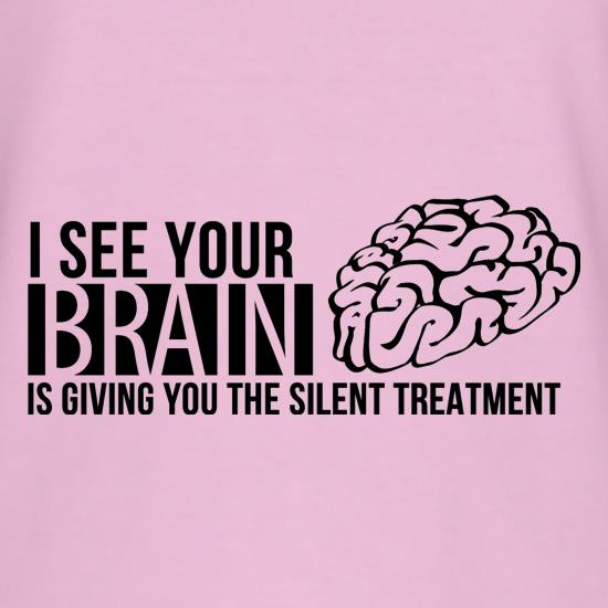 I see your brain is giving you the silent treatment t shirt