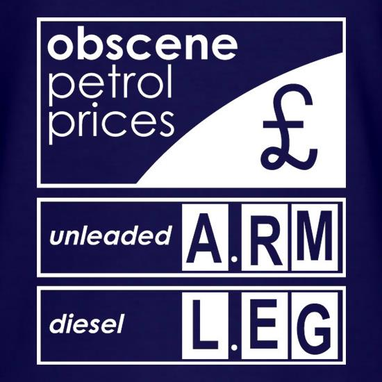 Obscene Petrol Prices t shirt